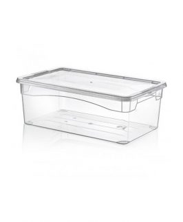 Clear Plastic Shoe Storage Box Ladies 32 x 20 x 11cm